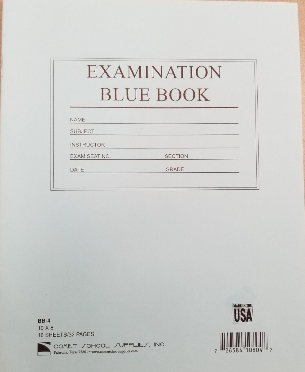 Cover Image For BLUE BOOK 8X10 LARGE