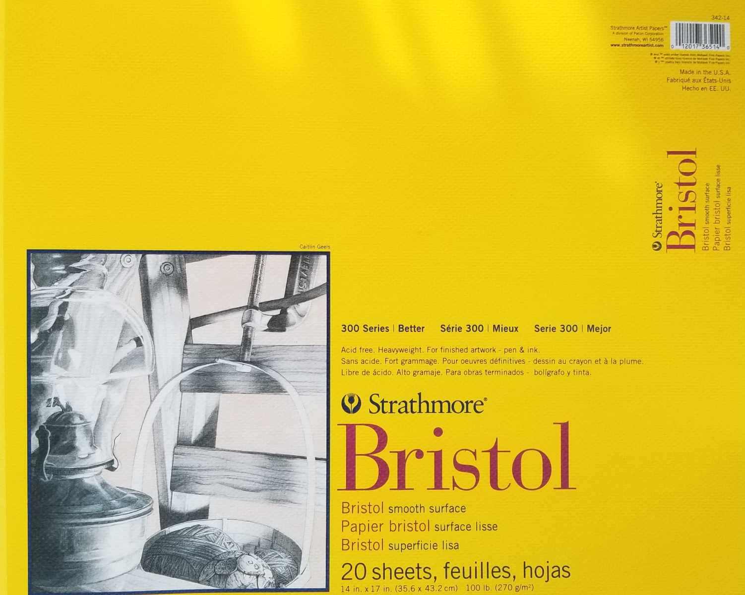 Image For BRISTOL PAD 14X17 SMOOTH