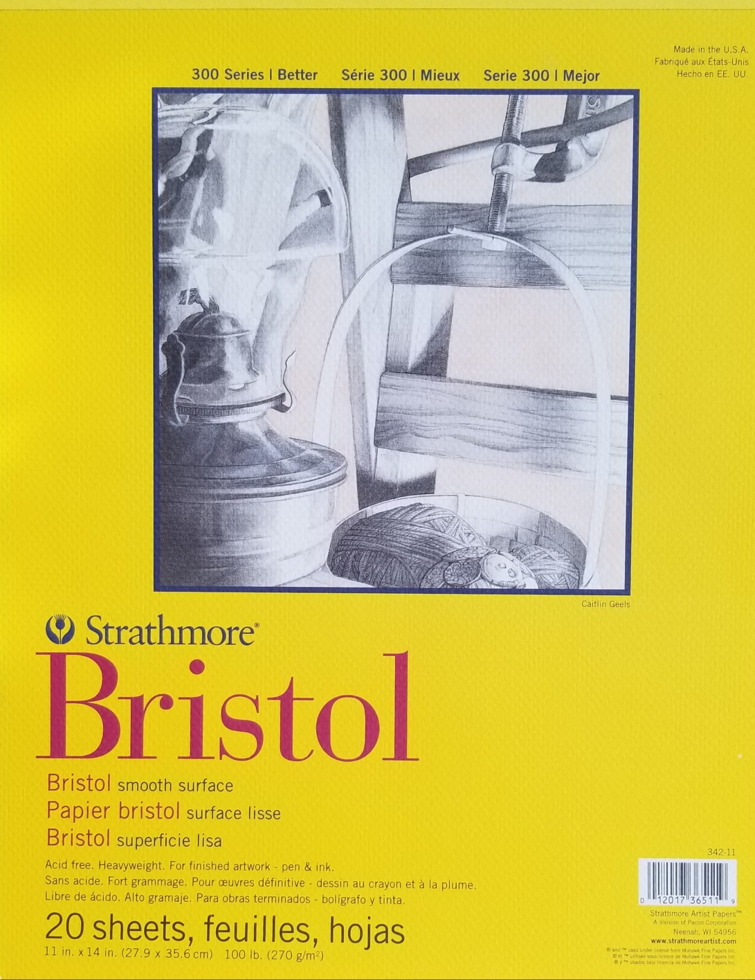 Image For BRISTOL PAD 11X14 SMOOTH