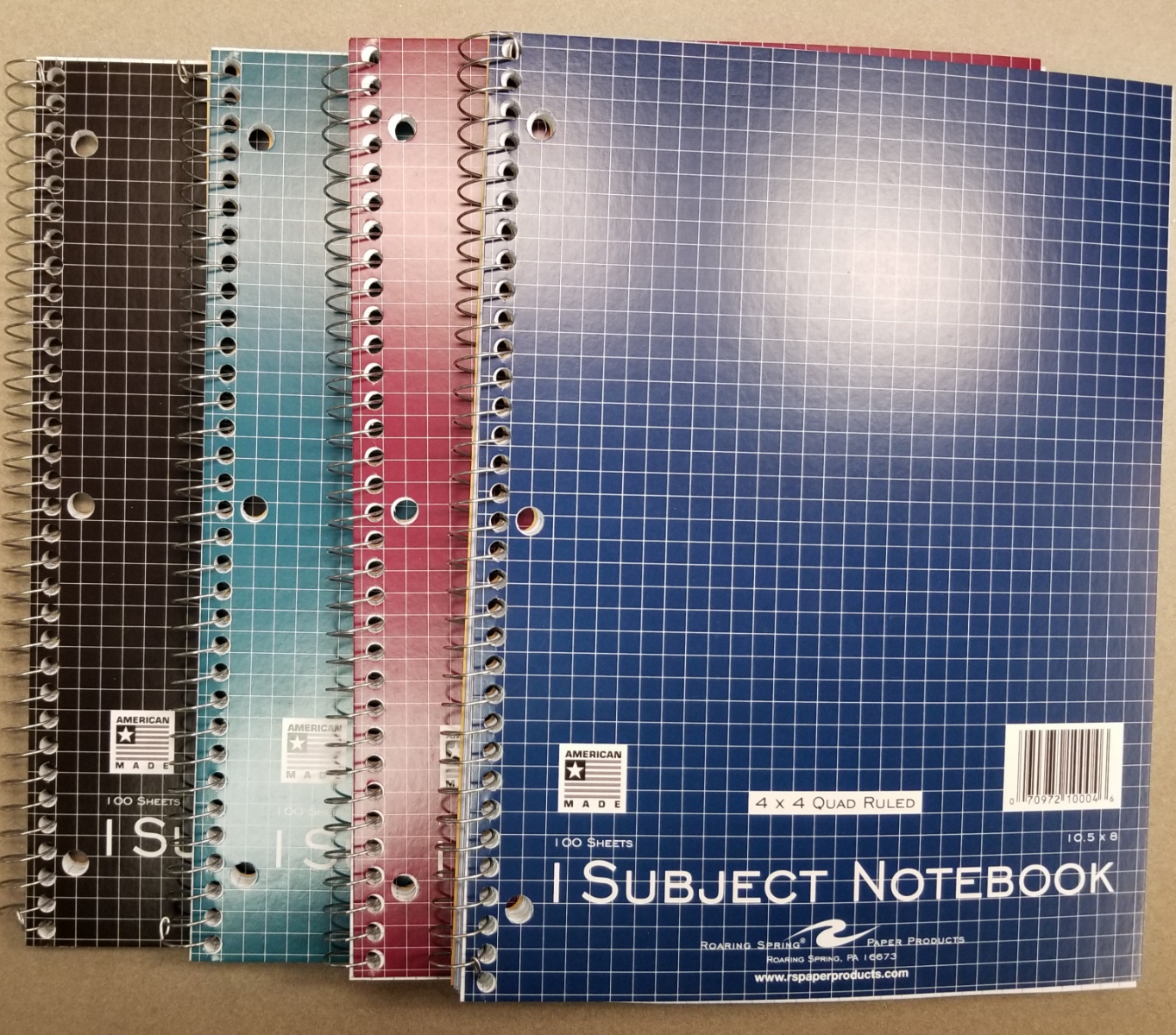 Cover Image For GRAPHING PAPER SPIRAL NOTEBOOK 4X4