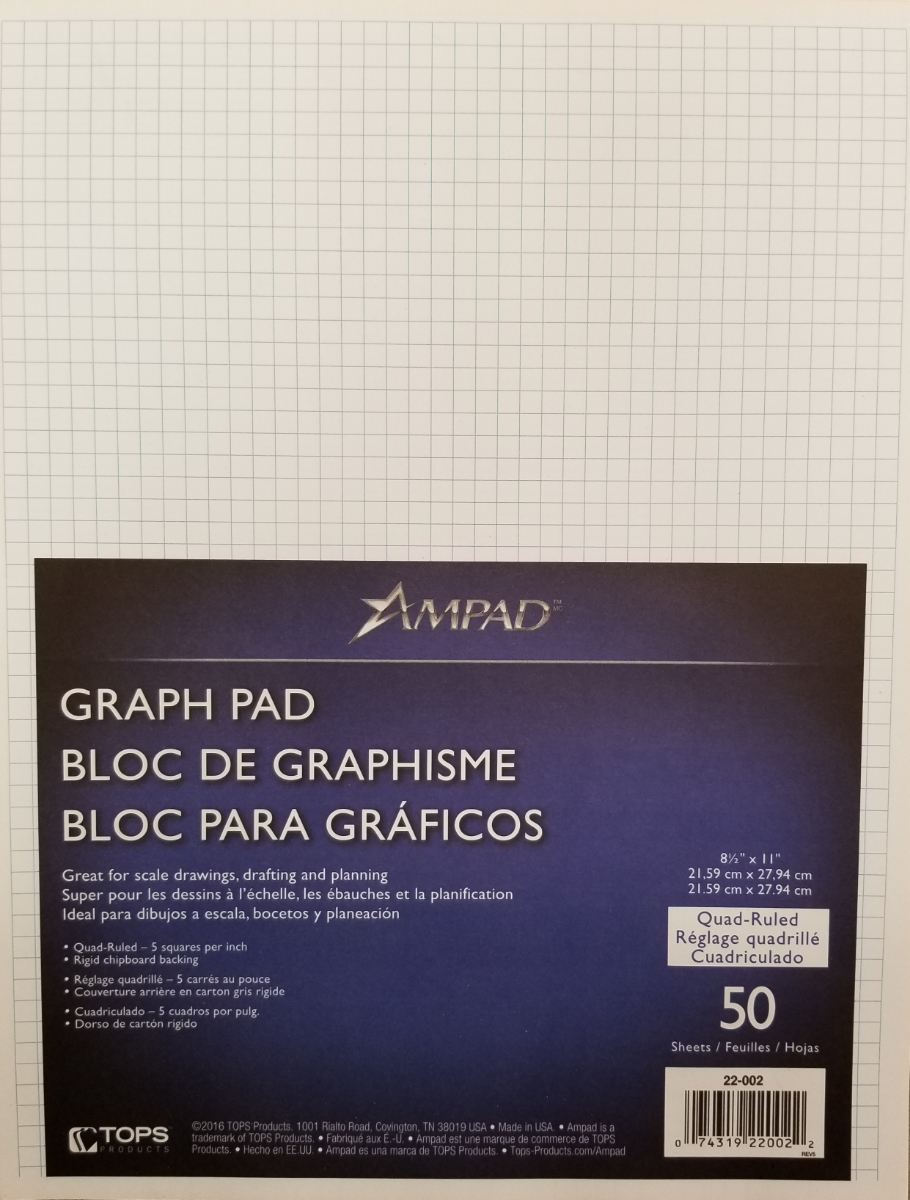 Image For GRAPHING PAPER PAD 5X5