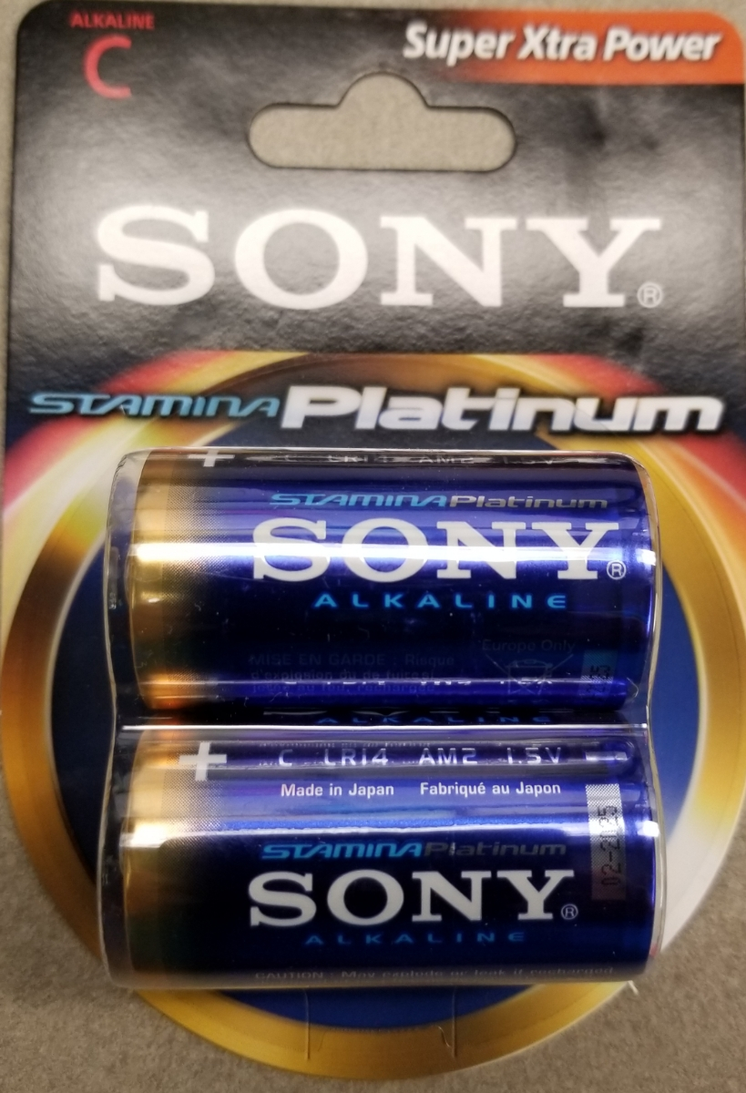 Image For BATTERIES C 2 PK SONY