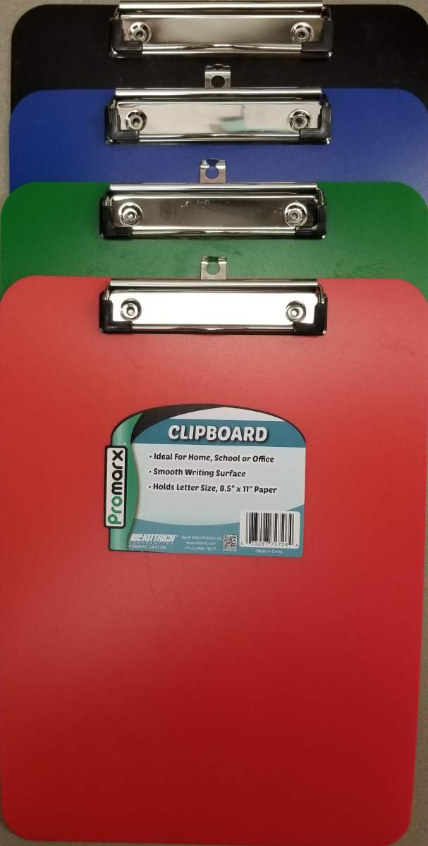 Cover Image For CLIPBOARD PLASTIC - COLORED