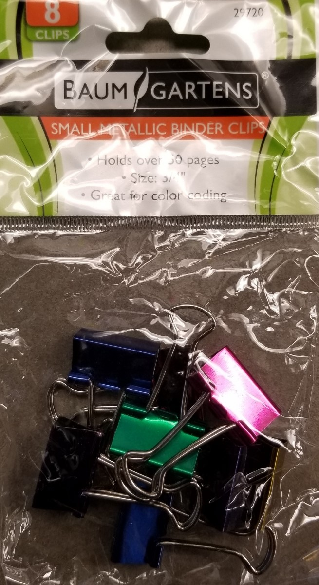 Image For BINDER CLIPS SMALL 8CT