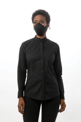 Image For MASK: CULINARY REVERSABLE BLK/GREY