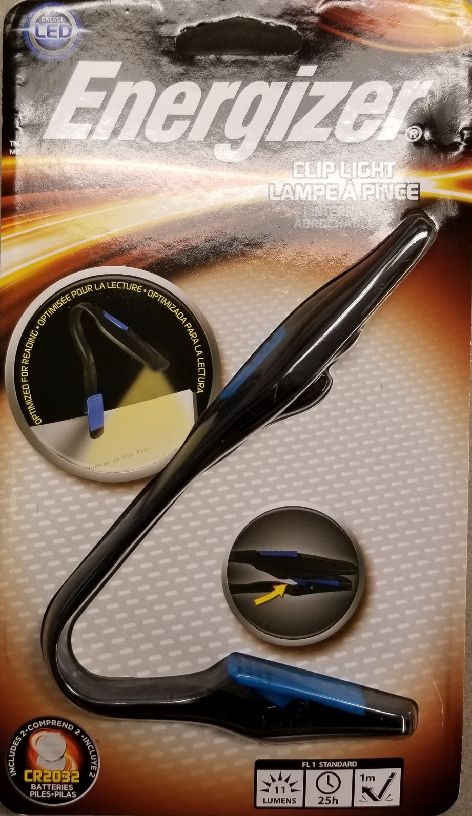 Image For BOOKLIGHT W/CLIP ENERGIZER